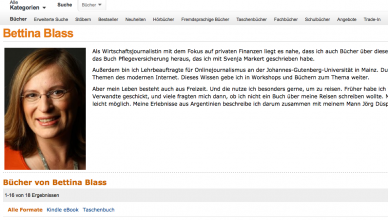Screenshot Amazon Autorenzentrale