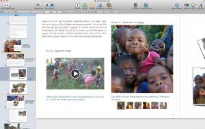 Screenshot eBook Tansania, geöffnet in iBookauthor