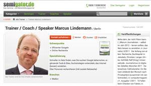 Das Trainerprofil von Marcus Lindemann bei Semigator