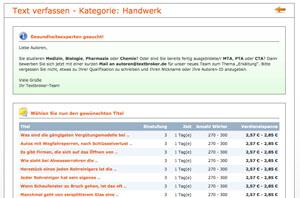 Screenshot Aufträge textbroker.de