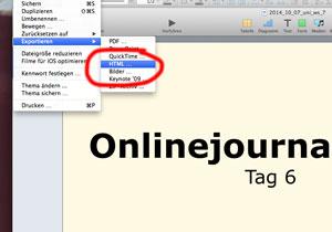 Screenshot Keynote