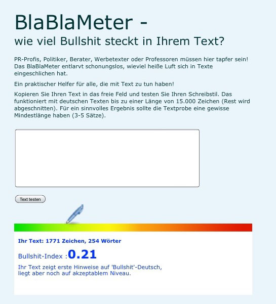 Screenshot Blablameter