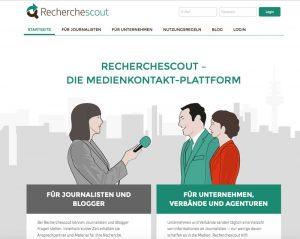 Screenshot Recherchescout