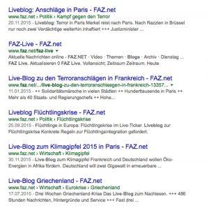 Live-Blogs der FAZ
