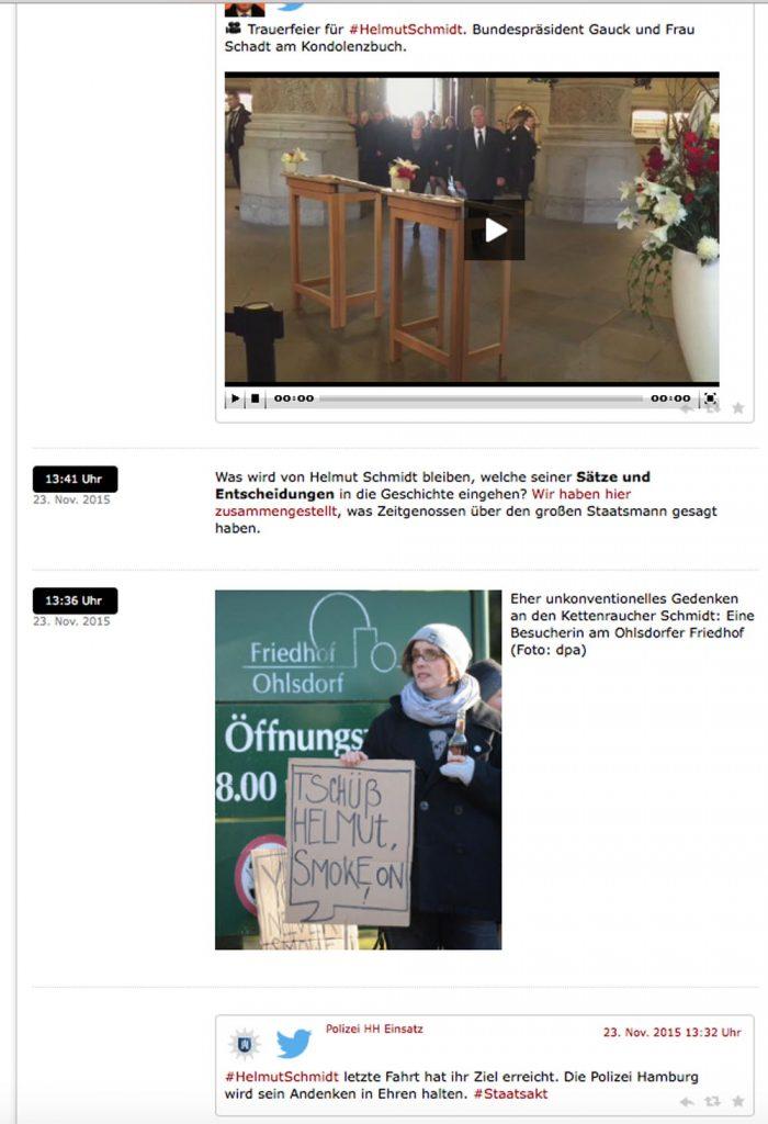 Live-Blog bei Spiegel Online