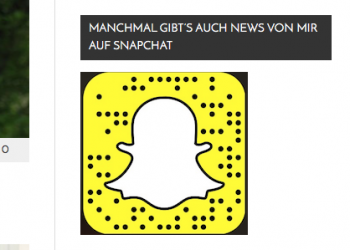 Snapcode in der Homepage