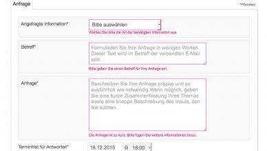 Webformular auf ResponseSource