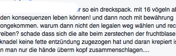 Facebook Post zum Thema Kindsmord