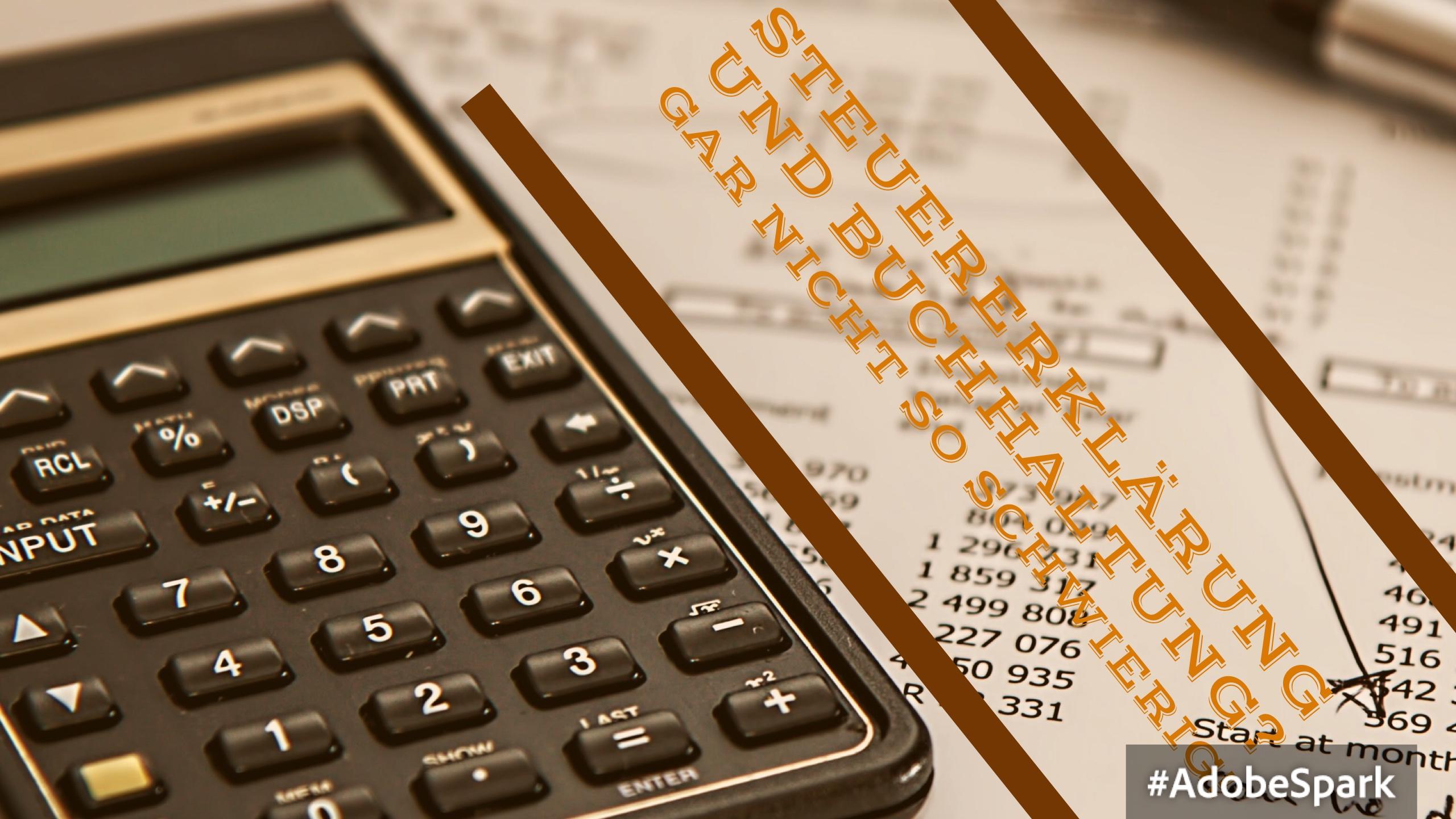 Steuererklärung und Buchhaltung kann man auch selbst machen