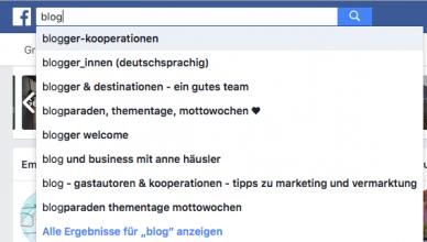 Gruppen-Suche auf Facebook