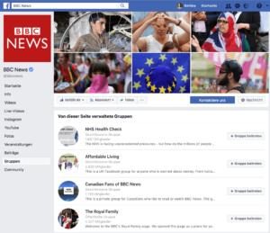 BBC News hat gleich mehrere Gruppen