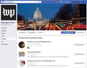 Washington Post bietet mehrer Gruppen an