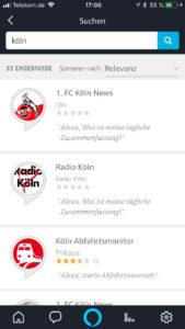 Kölner Angebote für Alexa
