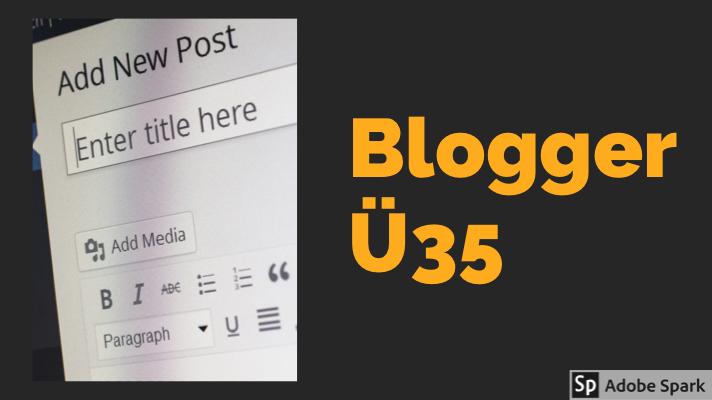 Ja, es gibt Blogger, die älter als 35 sind. Viele sogar!