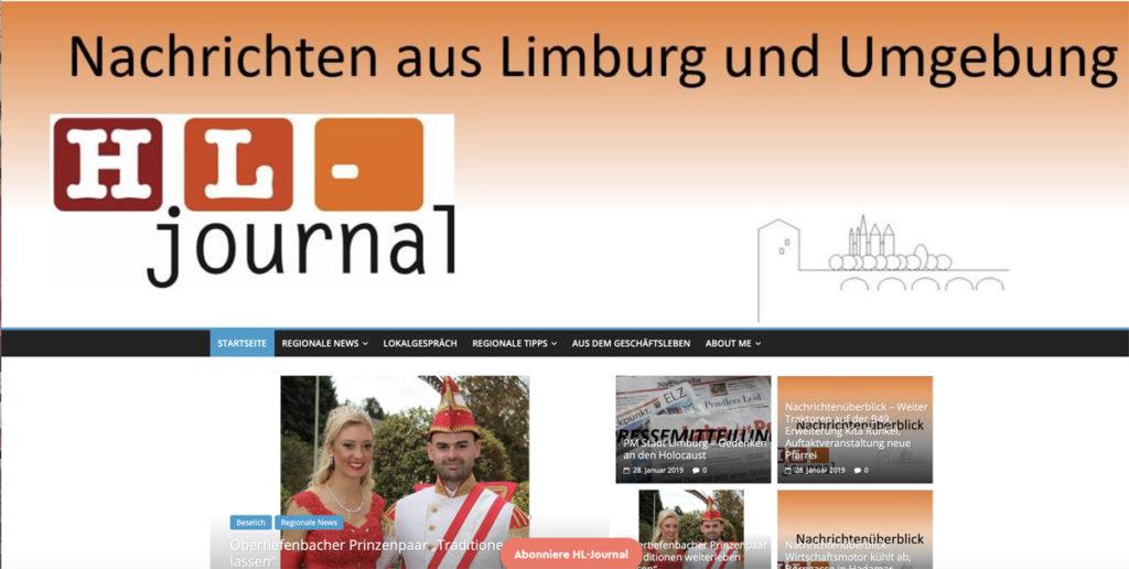 Screenshot HL-journal