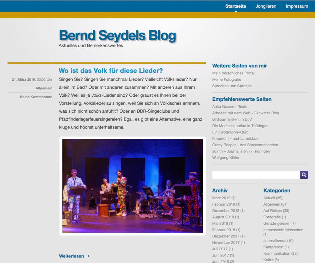 Bernd Seydels Blog